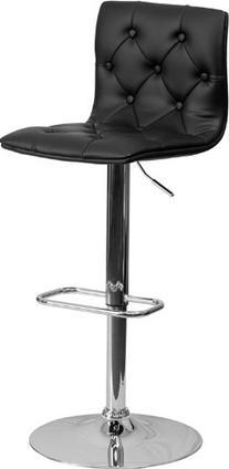 Flash Furniture Contemporary Tufted Black Vinyl Adjustable