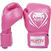 Venum Contender Boxing Gloves, Pink, 8-Ounce