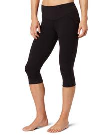 Champion Women's Control Top Capri Legging, Black, Large