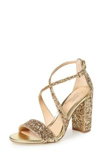 Women's Badgley Mischka Cook Block Heel Glitter Sandal, Size