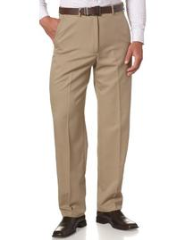Haggar Men's Cool 18 Hidden Expandable Waist Plain Front