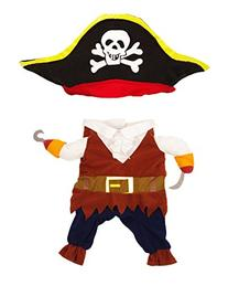 TOPSUNG Cool Caribbean Pirate Pet Costume for Dogs / Cats,