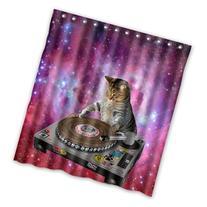 Cool Galaxy DJ Cat Funny Animal Pet Design Mildew Proof