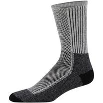 Wigwam Men's Cool-Lite Hiker Pro Crew Socks, Black/Grey,