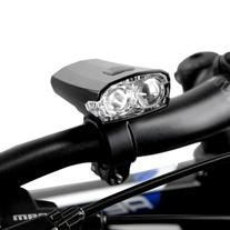 BV Cool White LED Rechargeable Bicycle Light, Black