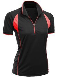 Women's Coolmax Fabric Sporty Feel Functional Short Sleeve