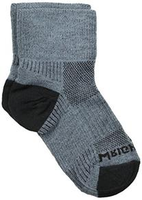 WrightSock Women's Coolmesh II Quarter Single Pack, Grey,