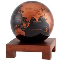 "4.5"" Copper and Black Earth MOVA Globe with Square Base in"