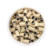 YESURPRISE 1000pcs Copper Micro Link Tubes Rings 3.5mm Beads