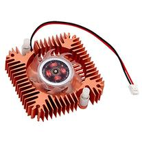 uxcell Copper Plated 55mm 2 Terminal VGA Video Card Heatsink