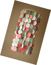 Coral, Mint, and Gray Crib Mobile