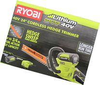 "Ryobi 40-Volt Cordless Hedge Trimmer 24"" includes Lithium-"