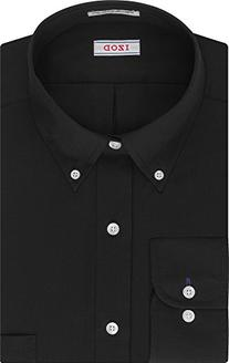 IZOD Men's Twill Regular Fit Solid Button Down Collar Dress
