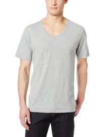 7 For All Mankind Men's Core V-Neck T-Shirt, Heather Grey,