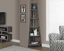 Monarch Corner Accent Etagere in Dark Taupe