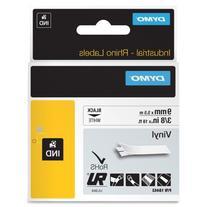 "Dymo Corporation Label, Vinyl, Industrial, 3/8"", 18', White"