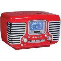Crosley Corsair Red Alarm Radio and CD Player