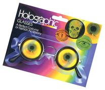 Costume Accessories- Scientist Hologram Bug Eye Glasses