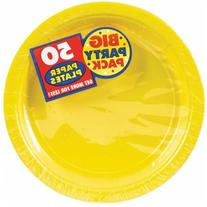 Amscan Yellow Sunshine Big Party Pack- Dessert Plates