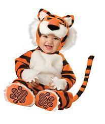 Costumes Baby's Tiger Deluxe Costume, Orange/Black, X-Small