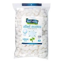 White Cloud Cotton Balls, Large Jumbo Size, 400 Count