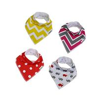 Mittagong Unisex Cotton Baby Bandana Drool Bib with Snaps