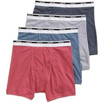 Gildan Men/'s Premium Cotton Boxer Briefs 4-Pack