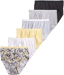 Fruit of the Loom Ladies' 6pk Cotton Assorted Briefs