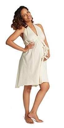 Pretty Pushers Cotton Jersey Labor Gown One Size  Unbleached