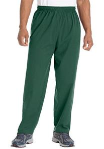 Kingsize Men's Big & Tall Cotton Jersey Open-Bottom Pants,