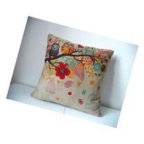 Cotton Linen Square Decorative Throw Pillow Case Cushion
