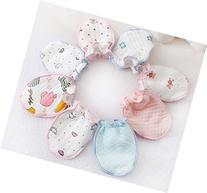 ZHW Baby Girls Cotton Mittens Three Pairs of Thick Three