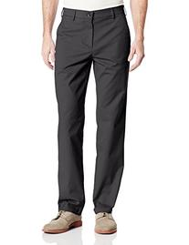 Haggar Men's Performance Cotton Slack Straight Fit Plain