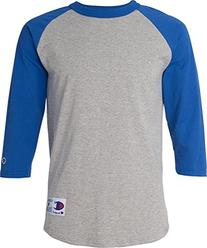 Champion Cotton Tagless Raglan 3/4 Sleeve Baseball T-shirt
