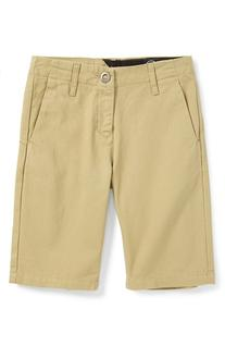 Boy's Volcom 'Faceted' Cotton Twill Shorts