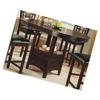 Coaster Counter Height Dining Table Extension Leaf Dark