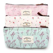 Countryside Flower Floral Pencil Pen Case Cosmetic Makeup