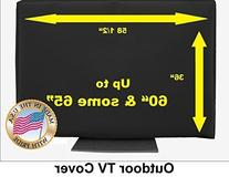 """60"""" Outdoor TV Cover Black"""