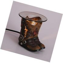Cowboy Boots Polyresin Oil Warmer with Dimmer
