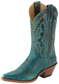 Ladies Cowboy Boot Leather Outsole J-Flex Insole Single