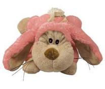 KONG Cozie Floppy the Rabbit, Medium Dog Toy, Pink