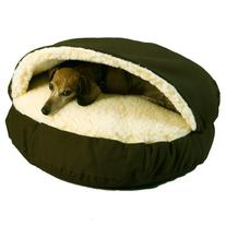 Cozy Cave Pet Bed in Poly Cotton - Size: Large , Fabric: