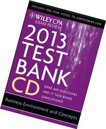 Wiley CPA Exam Review 2013 Test Bank CD, Business
