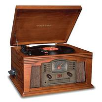 Crosley Radio CR42C-PA Lancaster TurnTable in Paprika