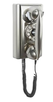 Crosley CR55-BC Wall Phone with Push Button Technology,