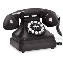 Crosley Radio CR62-BK Kettle Classic Desk Phone in Black