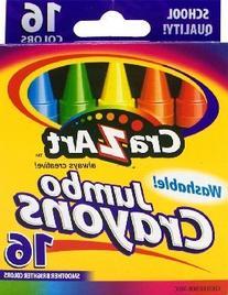 Cra-Z-art  Washable Jumbo Crayons, 16 Count