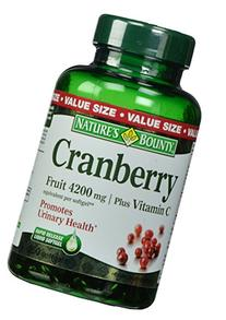 Natures Bounty Cranberry Fruit Plus Vitamin C - 250 softgels