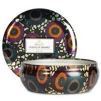 Voluspa Crane Flower 3 Wick Candle in Decorateive TIN 12 oz