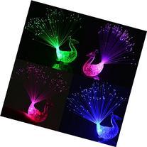 Calcifer® New 12Pcs Creative Colorful Peacock Finger LED